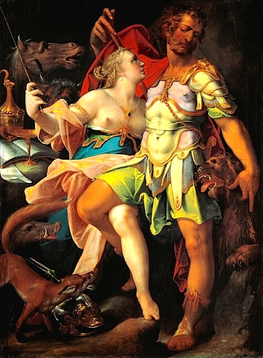 Ulysses and Circe _Bartholomäus_Spranger