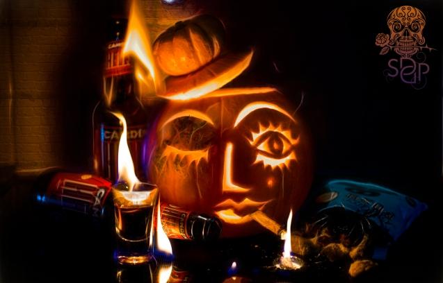 Smoky when lit - pumpkin