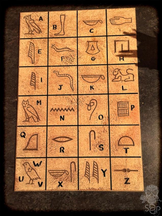 hieroglyph letters