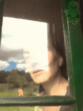 through the back door